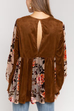 Load image into Gallery viewer, 70's Vintage Style Velvet Embroidered Top