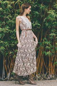 Farmhouse Lace Boho Maxi Dress