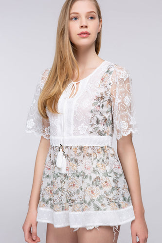 Lacey's Garden Tunic Top