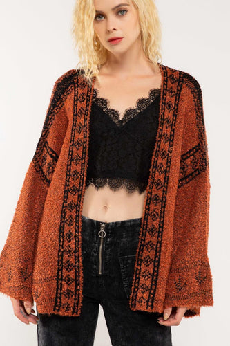 Indiana Jones Open Front Cardigan