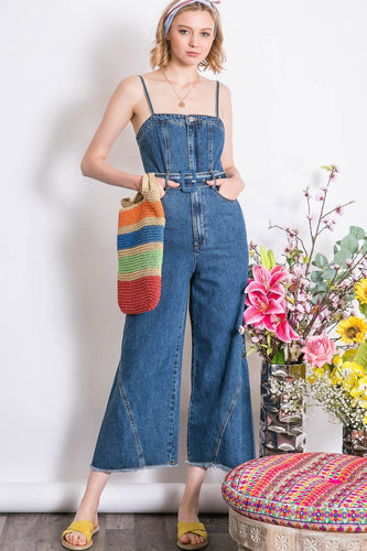 Jenna Indigo Denim Jumpsuit