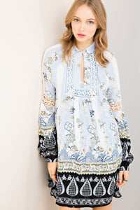 Kayleigh Floral Print Tunic Dress