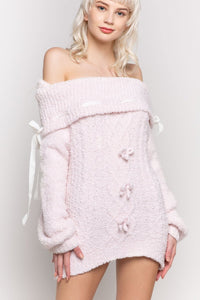 Dreamy Powder Pink Berber Fleece Sweater
