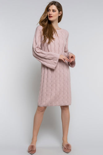 Dreamy Pink in Winter Sweater Dress