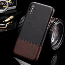 Load image into Gallery viewer, KISSCASE Business Leather Case For iPhone X 10 XS Max Soft Phone Back Cover Vintage Leather Case For iPhone 6 6s 7 8 Plus Fundas
