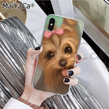 Load image into Gallery viewer, MaiYaCa Yorkshire terrier dog Newest Fashion Novelty Fundas Phone Case for iphone 11 pro X XS MAX 66S 7 7plus 8 8Plus 5S XR