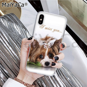 MaiYaCa Yorkshire terrier dog Newest Fashion Novelty Fundas Phone Case for iphone 11 pro X XS MAX 66S 7 7plus 8 8Plus 5S XR