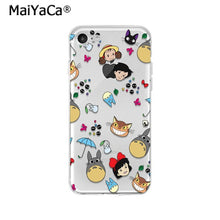 Load image into Gallery viewer, MaiYaCa Studio Ghibli Totoro Ponyo Spirited Away TPU Soft Phone Case Cover for iPhone X XS MAX  6 6s 7 7plus 8 8Plus 5 5S SE XR