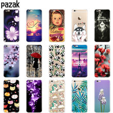 Load image into Gallery viewer, silicone Case For Iphone X 8 7 6 6s 5 5s SE Plus phone Case clear shockproof soft tpu printing coque for apple luxury shell
