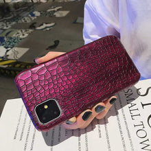 Load image into Gallery viewer, For iPhone 11 Pro Max Xr Fashion Cool Crocodile Snake Skin Back Cover Case For iPhone Xs Max X 6 6s 7 8 Plus Hybrid Rubber Capa