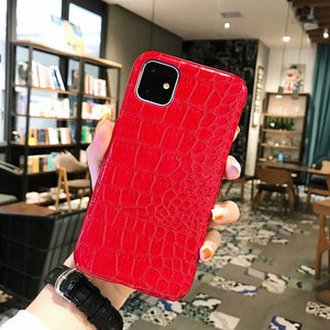 For iPhone 11 Pro Max Xr Fashion Cool Crocodile Snake Skin Back Cover Case For iPhone Xs Max X 6 6s 7 8 Plus Hybrid Rubber Capa