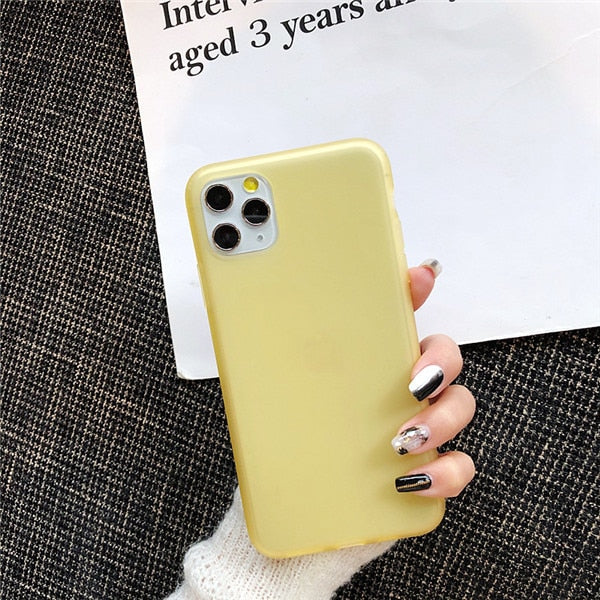Luxury Phone Case For iPhone X XS 8 7 6s Plus Latex Ultra Thin Slim Soft TPU Silicone Cover Case For iPhone XR 11 pro Max Coque