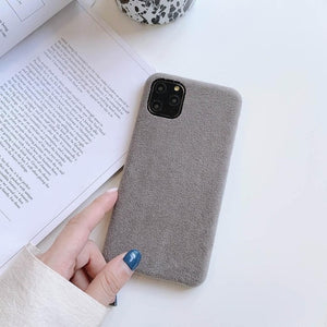 Velvet For Iphone 6 6s 7 8P X Xs Xr Max 11 Pro MAX 2019 Plush Cloth Drop Phone Case Cover