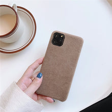 Load image into Gallery viewer, Kowkaka Simple Suede Phone Cases For iPhone11 Pro Max XS Max XR X 7 8 6 6s plus Matte Soft Silicon Anti-knock Cover Capa Couple