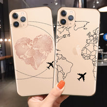 Load image into Gallery viewer, World Map Travel Just Go Phone Case For iPhone XS MAX X 11Pro XR 7 8 6 6s Plus 5 SE Fashion Clear Silicone Soft Back Cover Coque