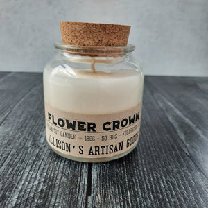 Flower Crown Candle