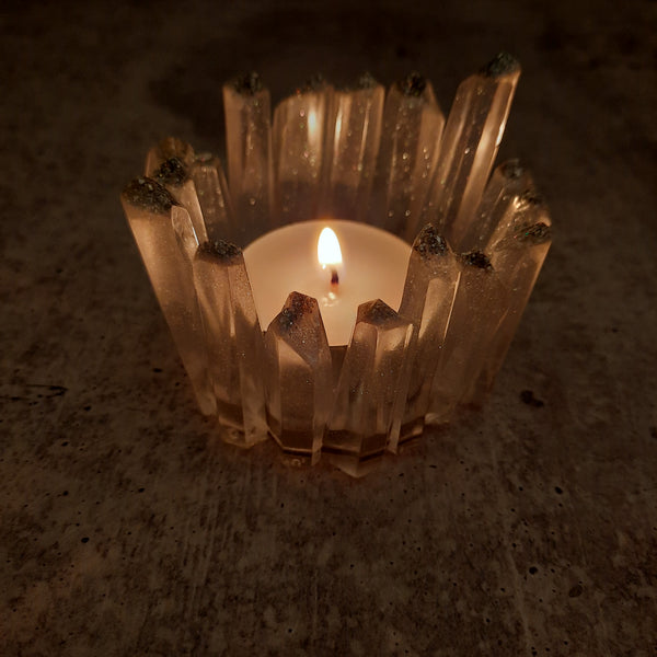 Eco Resin Crystal Tealight Holder
