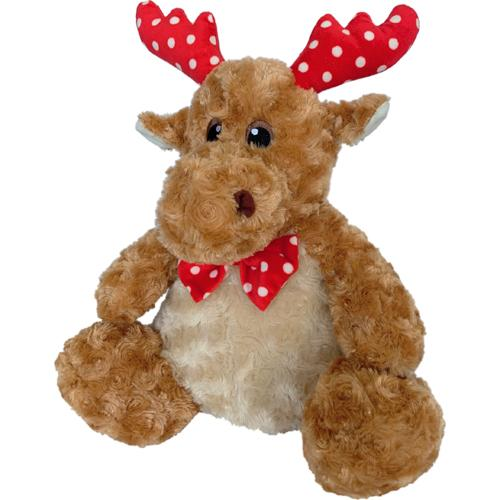 Petlou Holiday 2020 Polka Dot Reindeer Dog Toy, 10