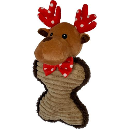 Petlou Holiday 2020 Reindeer Bone Dog Toy, 10