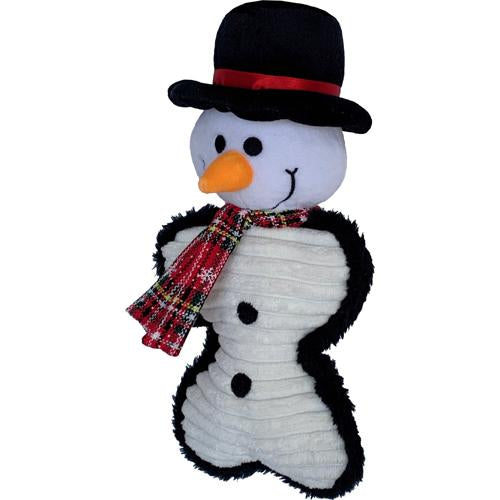 Petlou Holiday 2020 Snowman Bone Dog Toy, 10