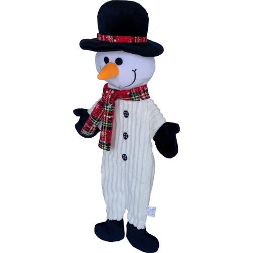 Petlou Holiday 2020 Flat Snowman Dog Toy, 15