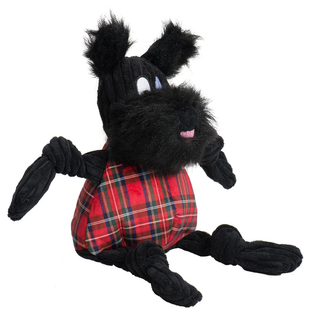 HuggleHounds Holiday 2020 Totally Tartan Scotch Scottie Knottie - Large