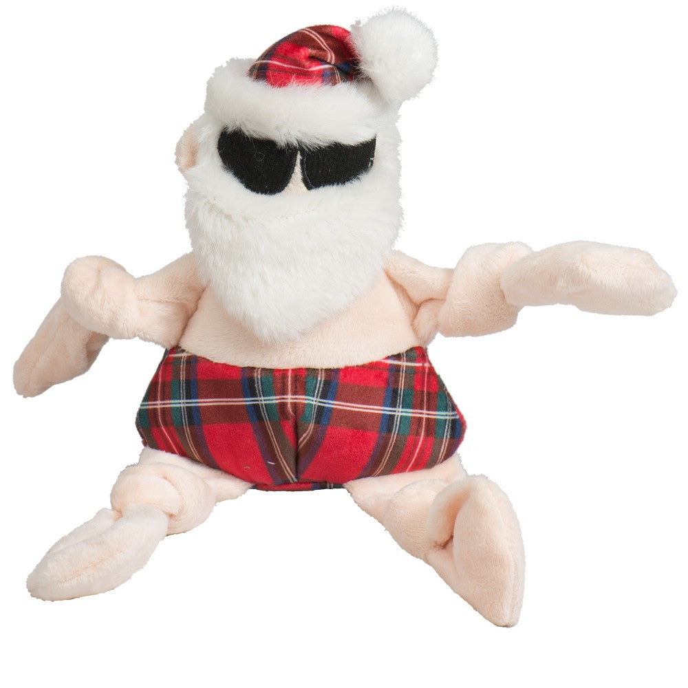 HuggleHounds Holiday 2020 Totally Tartan Beach Bum Santa Knottie - Small