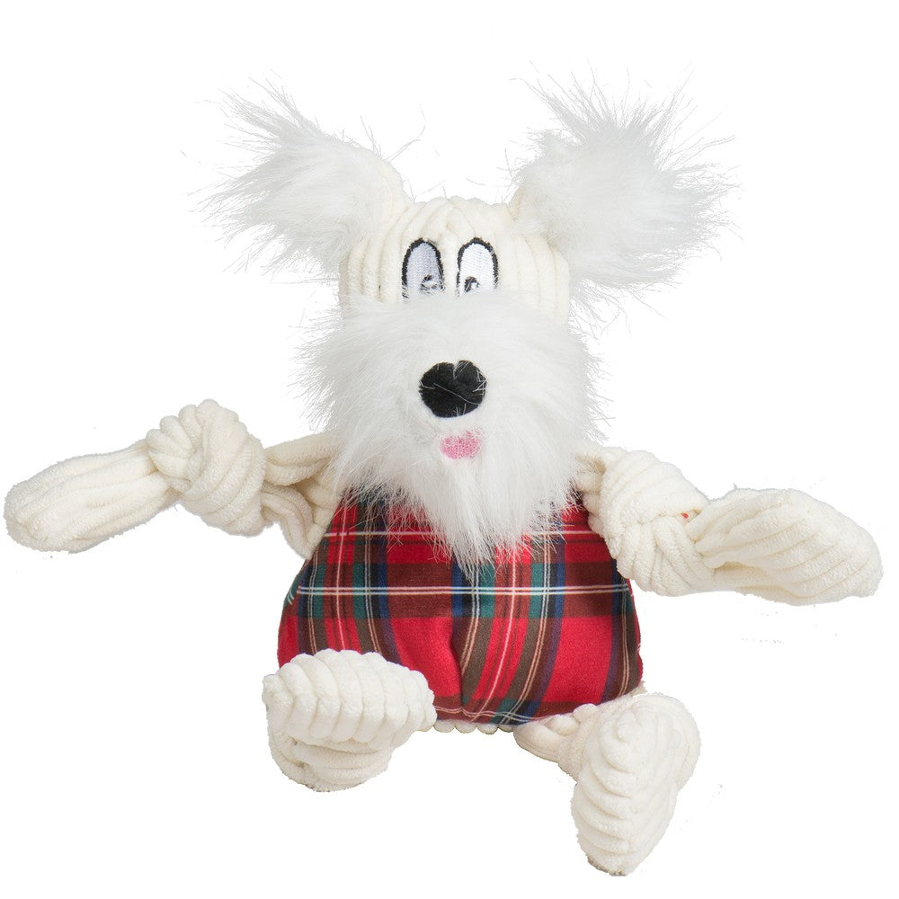 HuggleHounds Holiday 2020 Totally Tartan Whiskey Westie Knottie - Small