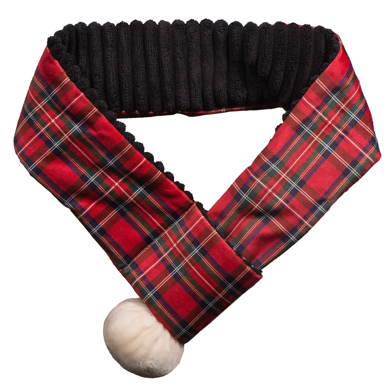 HuggleHounds Holiday 2020 Totally Tartan Scarf - Medium (fits necks 14-18