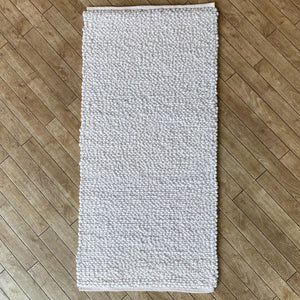 Voras Hand Woven Wool Rug - Natural