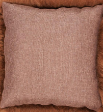 Load image into Gallery viewer, Luxury Short Haired Sheepskin Cushion - Rusty Brown