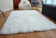 Load image into Gallery viewer, Icelandic Natural Sheepskin Rug with Straight Edges (Shorn) - Custom Made