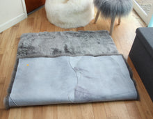 Load image into Gallery viewer, Icelandic Grey Sheepskin Rug with Straight Edges (Shorn) - Custom Made