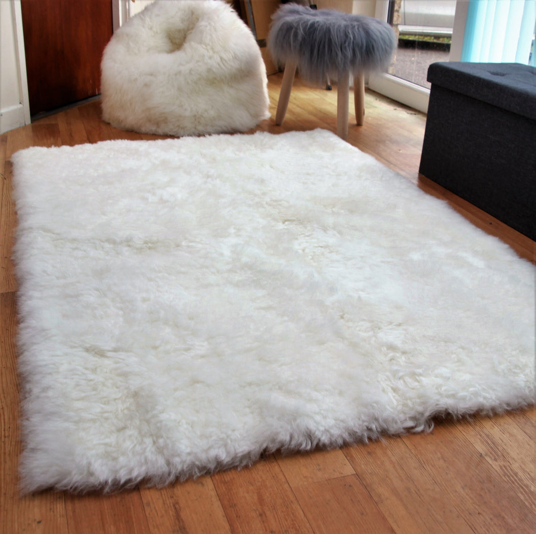 Icelandic Natural Sheepskin Rug with Straight Edges (Shorn) - Custom Made