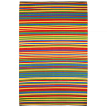 Load image into Gallery viewer, Funzie Multicoloured Striped Recycled Indoor & Outdoor Rug