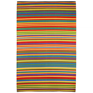 Funzie Multicoloured Striped Recycled Indoor & Outdoor Rug