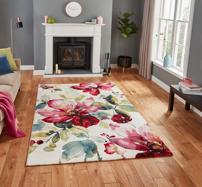 Havana 21854 Floral Multi-Coloured Modern Rug