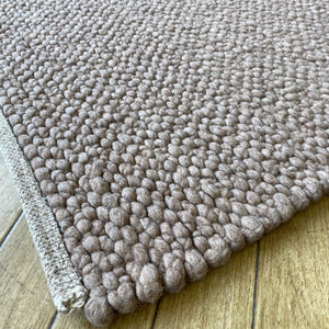 Voras Hand Woven Wool Rug - Taupe