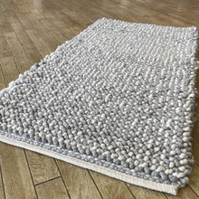 Load image into Gallery viewer, Vrachos Hand Woven Wool Rug - Natural / Grey