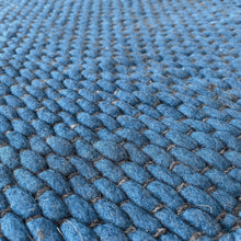 Load image into Gallery viewer, Hermes Hand Woven Wool Rug - Blue