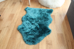 Teal Sheepskin Rug (Single)