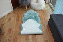 Load image into Gallery viewer, Duck Egg Blue Sheepskin Rug (Double)