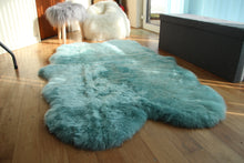 Load image into Gallery viewer, Duck Egg Blue Sheepskin Rug (Quad)