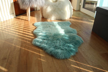 Load image into Gallery viewer, Duck Egg Blue Sheepskin Rug (Single)