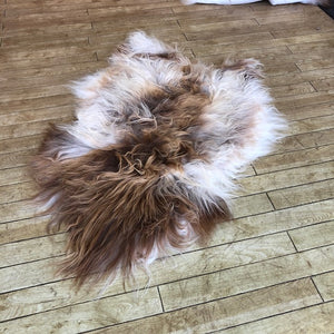 Natural Brown Spotted Icelandic Sheepskin Rug (Medium) - Choose Your Rug
