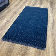 Load image into Gallery viewer, Hermes Hand Woven Wool Rug - Deep Blue
