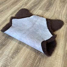 Load image into Gallery viewer, Small British Chocolate Sheepskin Rug (Single)