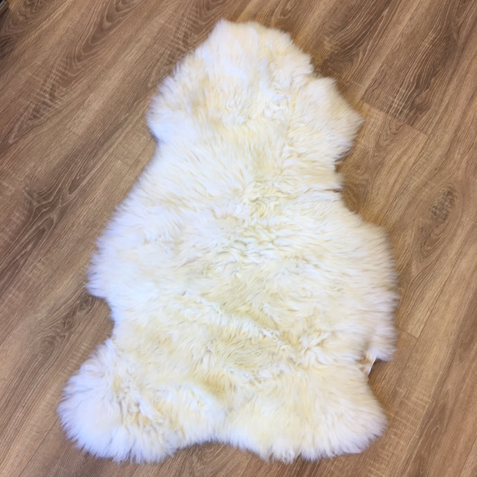 Sale - Single natural large sheepskin rug