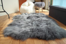Load image into Gallery viewer, Icelandic Sheepskin Rug Grey (Triple)