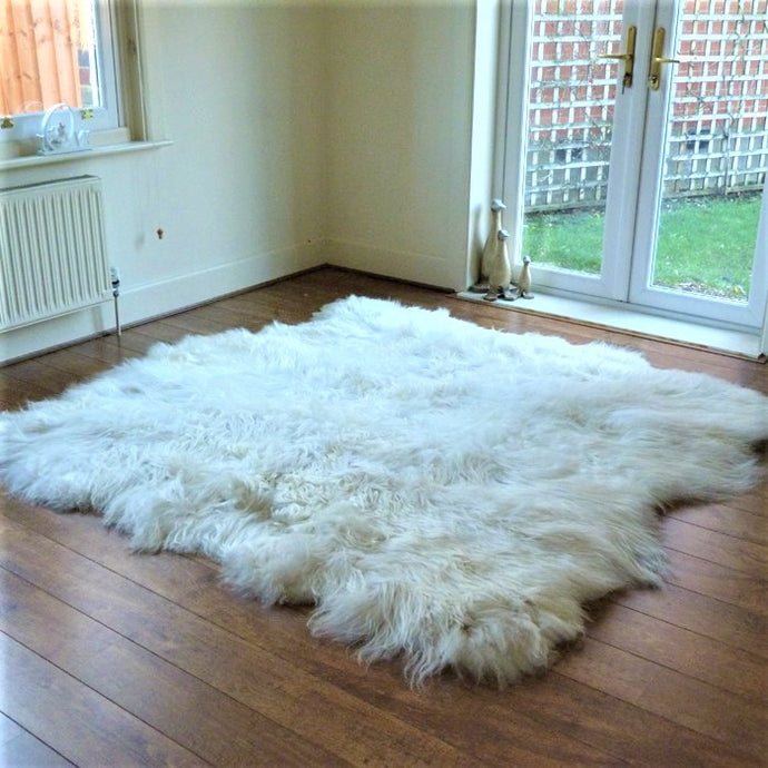 Icelandic Natural Sheepskin Rug with Natural Edges - Custom Made